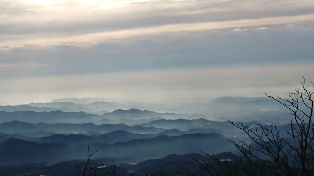 赤城山から山並み
